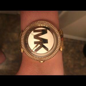 Michael Kors Parker Logo Glitz Watch
